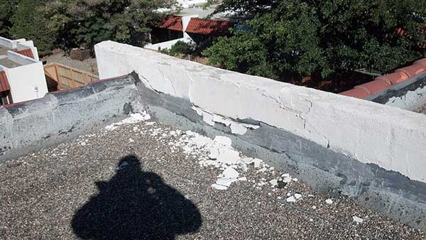 Stucco failure example